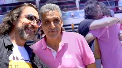 'El Guapo' venera a 'El Buki' con un autobús decorado en su honor y después de años soñando conoció a Solís