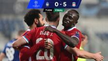 Tremenda goleada del Liverpool al Atalanta en Champions