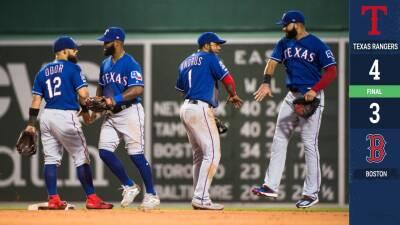 Los Rangers vienen de atrás y vencen a los Red Sox en extra innings