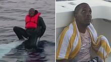 Creyeron que era un pez, pero se trataba de un hombre que llevaba horas flotando en el mar