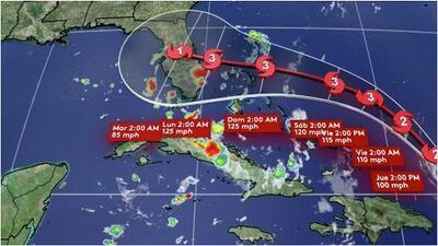 Altas posibilidades de lluvia para esta tarde de jueves en el sur de Florida