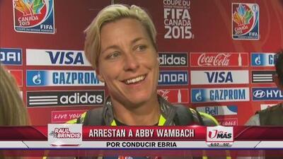 Abby Wambach arrestada por conducir ebria