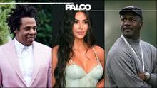 Kim Kardashian, Jay Z, Jordan y los billonarios famosos