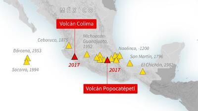 Estos son los 18 volcanes activos de México: casi un millón de personas vive en zona de riesgo