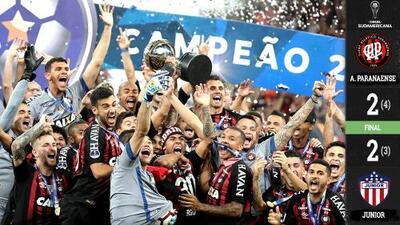 ¡Drama total! Atlético Paranaense se coronó en la Copa Sudamericana sobre Junior de Barranquilla