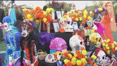 Con todo tipo de homenajes y desafiando las bajas temperaturas, mexicanos en Chicago celebraron el Día de los Muertos