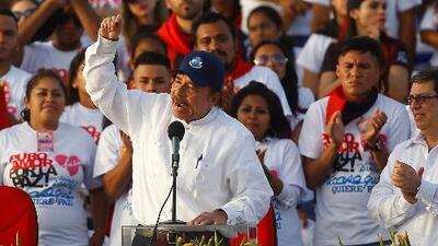 Ortega ataca a la Iglesia católica en la celebración del aniversario de la Revolución Sandinista