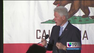 Bill Clinton visita Stockton en apoyo a Hillary