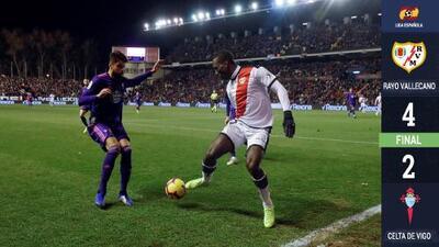 Gol de Néstor Araujo no salva al Celta de sucumbir con Rayo Vallecano