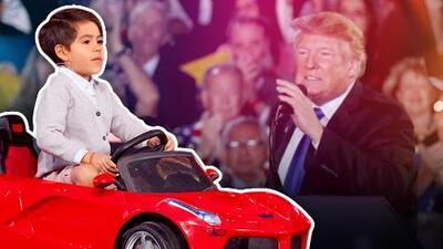 Este ocurrente niño quiere ser presidente cuando sea grande (aunque no como Donald Trump)
