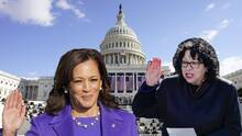 Sonia Sotomayor: la jueza latina que tomó el juramento de Kamala Harris como vicepresidenta