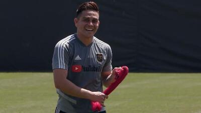 Fito Zelaya deja atrás la lesión y se concentra en la parte física para poder debutar con LAFC