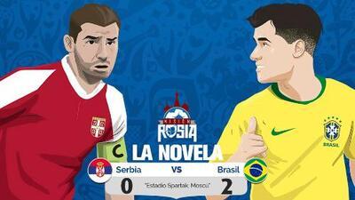 La 'Novela' del Brasil vs. Serbia: el pentacampeón ganó 2-0 y será el rival de México