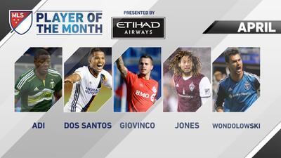 Dos Santos, Giovinco, Adi, Jones y Wondolowski nominados al jugador del mes