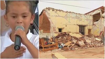 """""""Fue muy horrible"""": En medio del llanto, una niña pide ayuda a autoridades para reconstruir su escuela tras terremotos en México"""