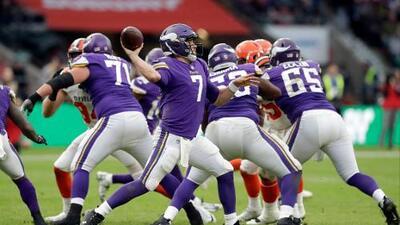 Case Keenum lideró la victoria de los Vikings sobre Cleveland en Londres