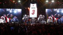 Miami Heat retira la camiseta número 3 de Dwyane Wade en homenaje a una de sus leyendas