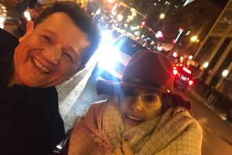 Ni el frío pudo detener a Renzo y Maria Esther durante su visita a Chicago