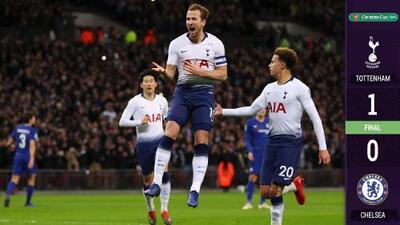 Harry Kane le dio ventaja a Tottenham en la Copa de la Liga