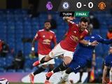 Chelsea y Manchester United empatan 0-0 en partido de pocas emociones