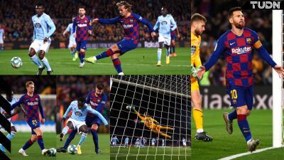 Con un imparable Messi, el Barcelona golea y retoma el liderato