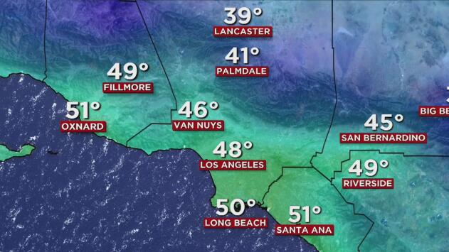 Condiciones frías y bajas posibilidades de lluvias para este viernes en el sur de California