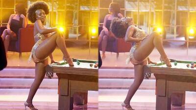 Por este baile le dijeron a Amara 'La Negra' que tenía las mejores piernas de Mira Quién Baila All Stars