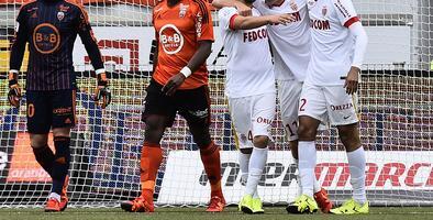Mónaco vence de visita al Lorient y son segundos en la Ligue 1