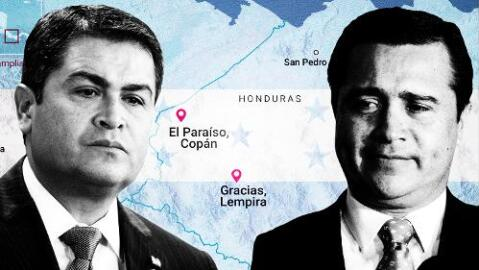 Las montañas de Honduras desde donde los narcos presuntamente ayudaron al presidente Hernández