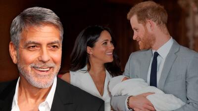 """""""Me está robando la atención"""": la reacción de George Clooney al nacimiento de Archie Harrison"""