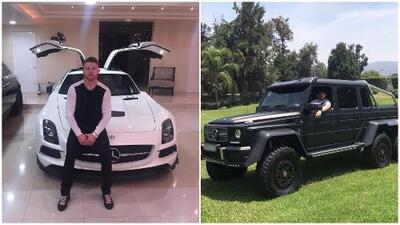 El 'Canelo' y su lujosa colección de autos: desde Lamborghini hasta una camioneta Mercedes Benz única en México