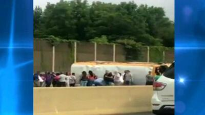 Varios heridos deja un accidente de autobús escolar en Nueva Jersey