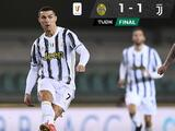Juventus y Cristiano Ronaldo tropiezan con el Hellas Verona