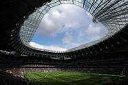 LONDON, ENGLAND - APRIL 13: General view inside the stadium during the Premier League match between Tottenham Hotspur and Huddersfield Town at the Tottenham Hotspur Stadium on April 13, 2019 in London, United Kingdom. (Photo by Julian Finney/Getty Images)