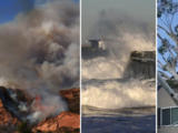 Riesgos de incendios, apagones y peligros en las costas por vientos de hasta 75 millas por hora en el sur de California