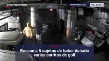 Buscan a 5 sujetos de haber dañado varios carritos de golf