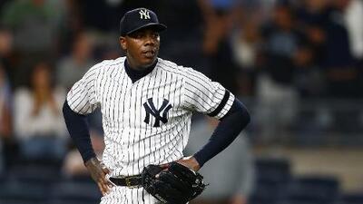 Aroldis Chapman con un pie fuera de los Yankees