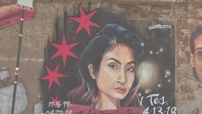 Plasman el rostro de la fallecida Marlen Ochoa en un mural para honrar su memoria