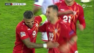¡GOOOL! Ilija Nestorovski anota para Macedonia