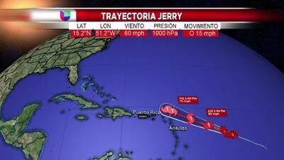 Jerry se convierte en el cuarto huracán de la temporada