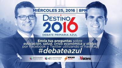 #DebateAzul: Ricardo Roselló y Pedro Pierluisi responderán tus preguntas