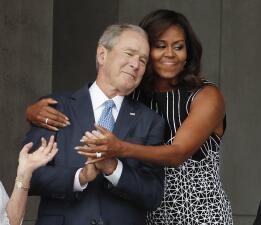 En fotos: Los Obama y los Bush presidieron la inauguración del Museo de Historia y Cultura Afroamericana