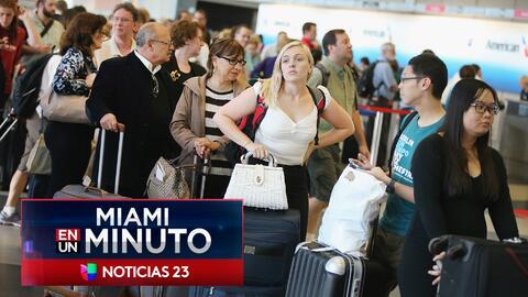 'Miami en un Minuto': las lluvias han obligado a cancelar decenas de vuelos en los aeropuertos de Miami y Fort Lauderdale