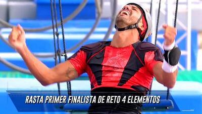 'El Rasta' venció a este aguerrido contrincante y se convirtió en el primer semifinalista de Reto 4 Elementos