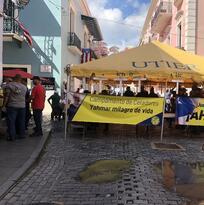 La Utier protesta frente a Fortaleza