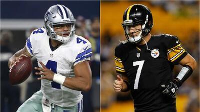 Dallas-Pittsburgh: Prescott vs. Roethlisberger frente a frente en el clásico de la NFL