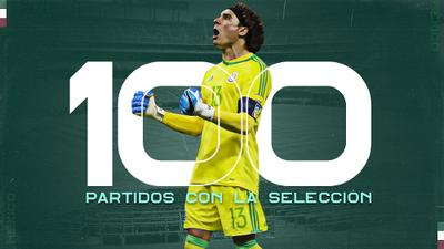 Guillermo Ochoa celebra 100 partidos con el Tri