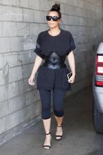 La faja de cuero de Kim Kardashian