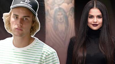 Justin Bieber ya está comprometido, pero todavía lleva el tatuaje con el rostro de su exnovia Selena Gómez