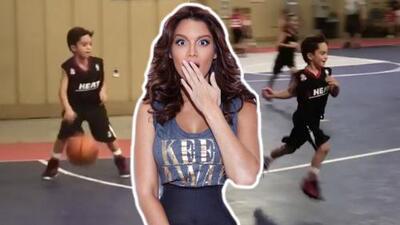 Ni en Miss Universo se emocionó tanto: Zuleyka Rivera es la fan número uno de este singular basquetbolista